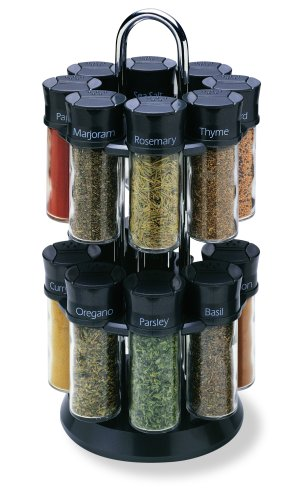 Olde Thompson 16-Jar Carousel Spice Rack ()