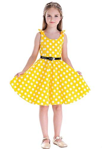 Bow Dream Girls Dresses Retro 1950s Vintage Swing