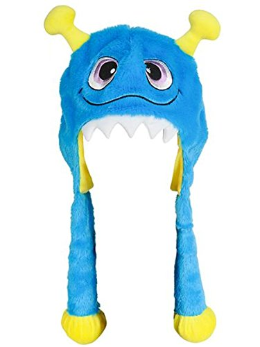 Halloween Character Cute Blue Monster Plush Hat Costume Accessory