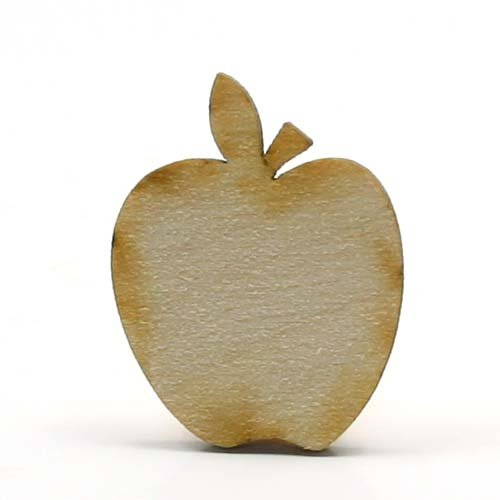 (Mylittlewoodshop Package of 12 - Apple - 1 inch wide by 3/4 inches tall and 1/8 inch thick unfinished wood (LC-APPL01-12))