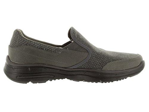 Skechers Usa Mens Scivola Movito Slip-on Loafer Charcoal