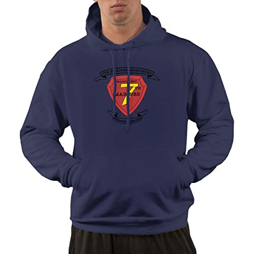 (7th Marine Regiment Mens Hoodies Hooded Sweatshirt with Pocket)