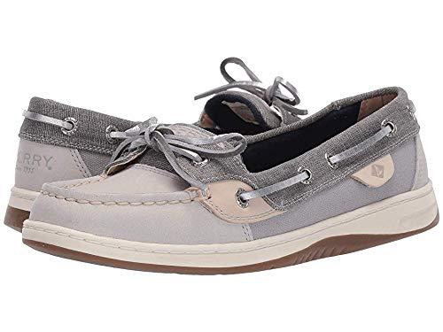 Sperry Top-Sider Angelfish Linen Boat Shoe Women 9 Grey
