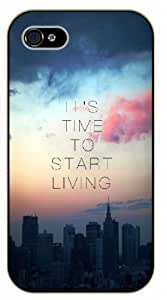 For SamSung Note 3 Case Cover It's time to start living, black plastic case / Inspirational and motivational life quotes / AUTHENTIC