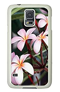 Samsung Galaxy S5 on sale cover Pink Flower PC White Custom Samsung Galaxy S5 Case Cover