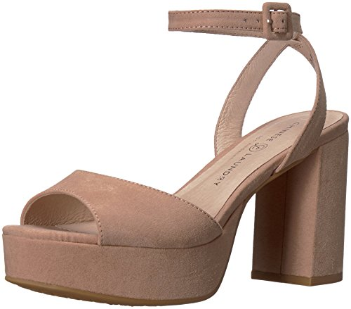 Chinese Laundry Women's Theresa Heeled Sandal, Dark Nude Suede, 7.5 M US