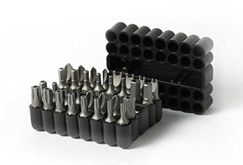 33-Piece Security Bit Set with Magnetic Extension Bit Holder | ARES 70009 | Includes Tamper Resistant SAE/Metric Hex and Star Bits | Torq, Spanner, and Triwing Complete the Anti Tamper Bit Set