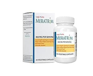 Meratrim® 400 mg 60 Vegetarian Capsules Pure Weight Loss Slimming Formula 400mg Daily, Stimulant Free
