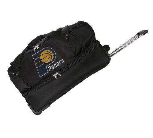 nba-indiana-pacers-denco-22-inch-drop-bottom-rolling-duffel-luggage-black