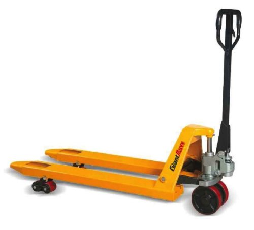 """Giant Move MB-P25S Steel Hand Pallet Truck, 5500 lbs Capacity, 48"""" Length x 21"""" Width Fork, Yellow"""