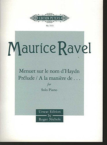 (EDITION PETERS RAVEL MAURICE - ALBUM OF SHORTER PIECES - PIANO Classical sheets Piano by Maurice Ravel (2001-04-12))