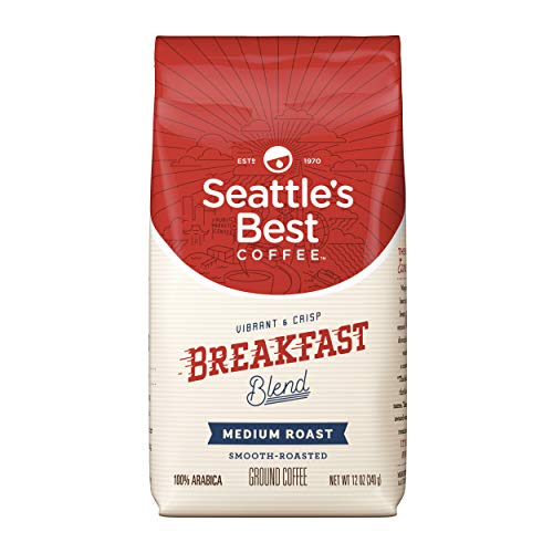 Seattle's Best Coffee Breakfast Blend Medium Roast Ground Coffee, 12-Ounce Bag