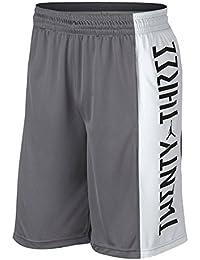NIKE Men's Jordan Retro 11 Basketball Shorts (Gunsmoke/White/Dust, Large)