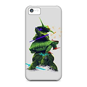 Fashionable Style Case Cover Skin For Iphone 5c- Realistic Ninja Turtles