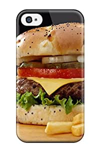 Fashion Tpu Case For Iphone 4/4s- Sandwich Food Sandwich Defender Case Cover