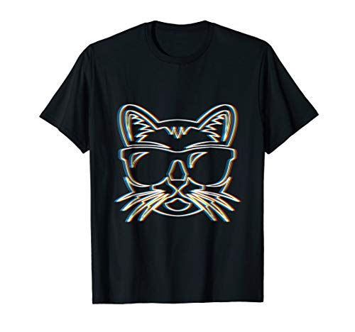 Psy Trance Psychedelic Cat T-Shirt | Trippy Retro