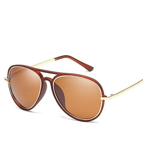 Axiba Sol de Gafas de Dama C Hombre Tendencia General de Shing Metal Sol Regalos Gafas Moda HD Sol polarizado Gafas creativos BqrwxBF