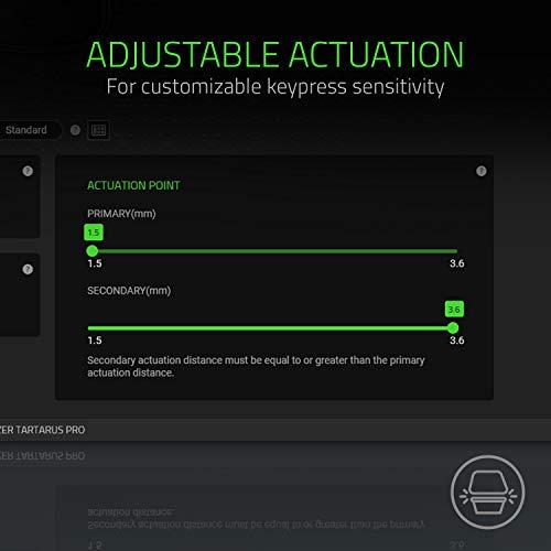 Razer Tartarus Pro Gaming Keypad: Analog-Optical Key Switches - 32 Programmable Keys - Customizable Chroma RGB Lighting - Programmable Macros - Variable Key Press Pressure Sensitivity - Classic Black