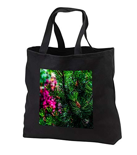 Alexis Photography - Nature Plants - Decorative green pine tree. Play of light on garden plants - Tote Bags - Black Tote Bag JUMBO 20w x 15h x 5d (tb_287376_3)