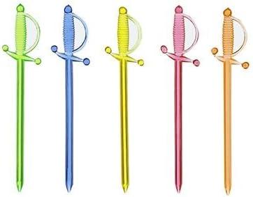 PAPSTAR 30 Deko-Picker, PS 7 cm farbig Sortiert Schwert 14940 Cocktailspieße Cocktailpicker