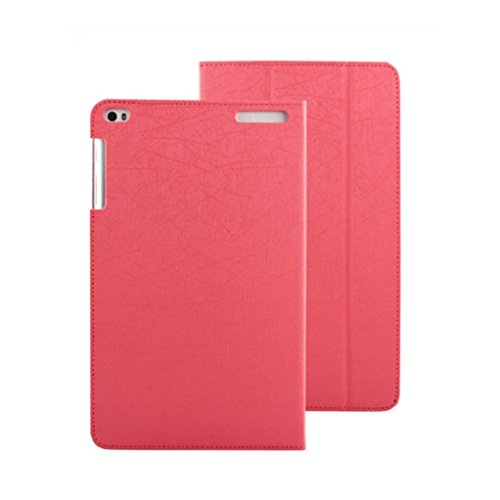 Sikye Silk Leather Case Stand Cover For Huawei MediaPad T1-A21 Tablet 9.6 inch (Hot Pink) (Huawei Honor T1 Tablet)
