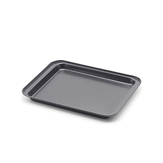 Small baking sheets nonstick set (9. 5inch x 7. 1inch)- ss&cc 8 inch nonstick sheet pan set for baking, carbon steel… 1 ✔premium quality - our state-of-the-art baking sheet(outside size: 9. 5inch x 7. 1inch x 0. 8inch, actual use inside size:7. 5inch x 6inch x 0. 5inch) is crafted from high-quality food safe heavy-gauge steel core heats evenly. And the painting is also food safe. This baking sheet is perfect for small portions and the non-stick finish works perfectly. ✔innovative design - this set of cookie sheets is lightweight and flexible. Perfect release. This is an ideal small cookie sheet for baking or cooking, great in toaster ovens, rv ovens, small portions in conventional ovens or freezer. ✔dishwasher safe - the cookie sheet can super easy to clean up. Just rinse under water or run through the dishwasher.