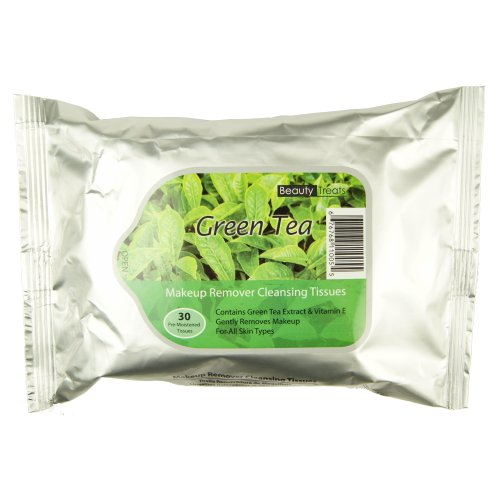BEAUTY TREATS Makeup Remover Cleansing Tissues Green Tea