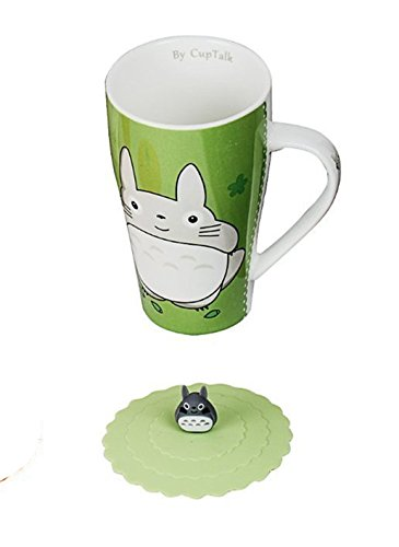 Color Totoro Silicone Green Lid With Mug USzpqVM