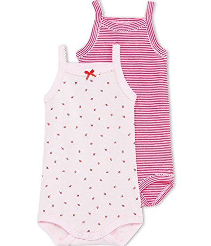 Petit Bateau Baby Girls' Striped/pink Strawberry Bodysuit/onesie 1-24/m (1/m, Striped/strawberry Print) ()