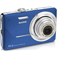 Kodak Easyshare M340 Digital Camera (Blue) At A Glance Review Image