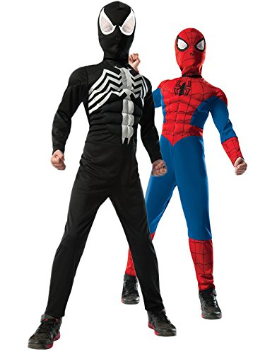 - 41W1afT0 2BtL - Rubie's Costume Co – Ultimate Spider-Man Reversible Kids Costume