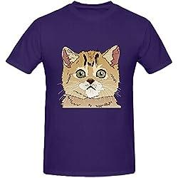 Existlong Cats Archives Mens T Shirts Design Crew Neck Purple