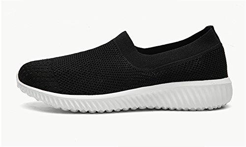 black 40 Zapatos Ligero Calcetines Fitness 35 Joker Pareja Transpirable Primavera Volando Verano Otoño XIE Moda Tejido Cómodo Zapatillas Tejidos de Volando CqARHw
