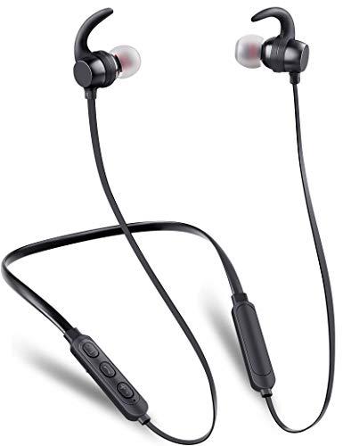 Wireless Headphones, MOSFiATA Bluetooth Sports Headphones High-Performance V5.0 IPX6 Waterproof Earphone, HiFi-Sound…
