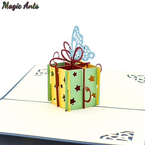 (Best Quality - Cards & Invitations - Happy birthday 3D Pop UP Cards gifts with envelope stickers laser cut party invitation Greeting Card postcards - by SeedWorld - 1 PCs)
