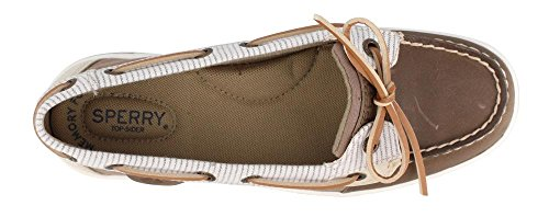 Sperry Top-sider Kvinders Angelfish 2-eye Havre Slip-on Dagdriver Taupe / Stribe o40SNbko