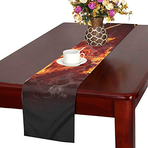 WHIOFE Singer Series Fiery s Table Runner, Kitchen Dining Table Runner 16 X 72 Inch for Dinner Parties, Events, Decor