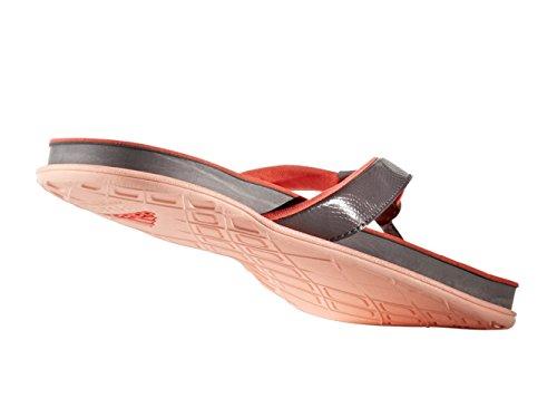 Adidas Originals Kvinders Cloudfoam Plus Y Atletisk Slide Sandaler Spore Grå / Spore Grå / Let Koral oFR4s