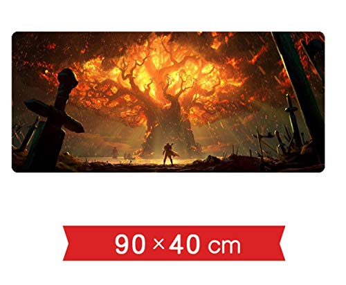 TMEET World of Warcraft Gaming Mouse Pad Large XL XXL Large Locking Edge Gaming Mouse Pad Teclado Mousepad de Goma Mesa…