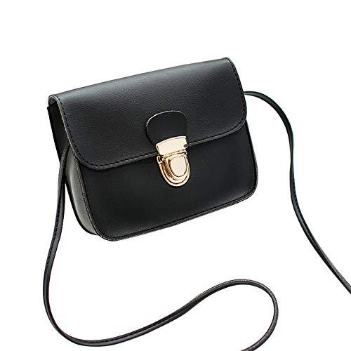 Shoulder BLACK Lock Bag Phone Small Fashion Bag Womens Bag Bafaretk Solid Crossbody Cover fqIOAxw
