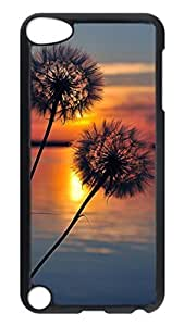 Brian114 Case, iPod Touch 5 Case, iPod Touch 5th Case Cover, Beautiful Dandelion Retro Protective Hard PC Back Case for iPod Touch 5 ( Black )