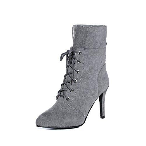Super alto tal cortas DYF botas Zapatos de mujer WqPU4