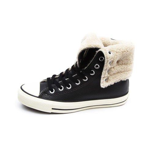 Converse All Star Knee Hi Leather Black - (femmes - 37.5 eu)