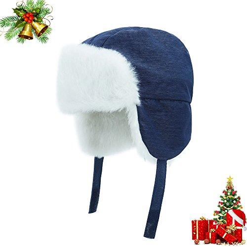 keepersheep-todder-baby-boys-ushanka-earflap-winter-bomber-hat-cap-kids-trapper-hat-bomber-hat-0-3-m
