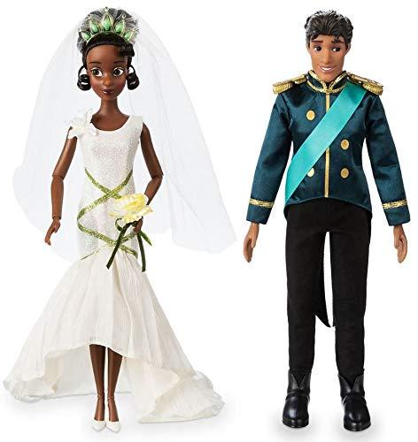 Conjunto Clássico de Bonecos de Casamento Tiana e Naveen - Disney - A Princesa e o Sapo