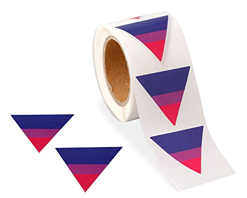 Pride Triangle (250 Bisexual Triangle Pride Stickers (250 Stickers on a Roll))