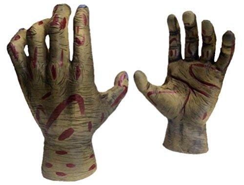 Morbid Enterprises Zombie Hand Door Knob Cover, Cream/Green/Red/Black, One Size -