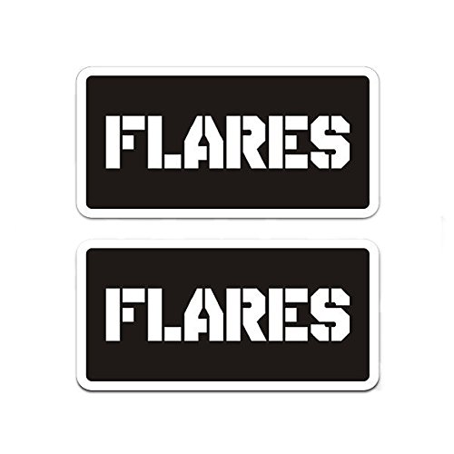Flares Ammo Can Decal SET Gun Ammunition Box Vinyl Sticker