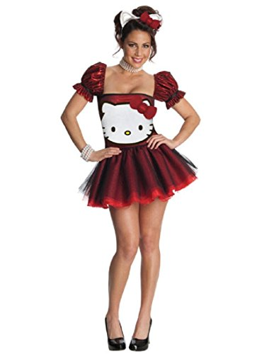 (Secret Wishes  Hello Kitty Adult Costume Dress, Red,)