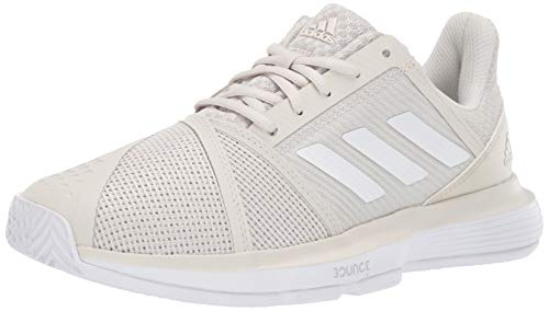 adidas Women's Courtjam Bounce, raw White/Matte Silver, 7 M US